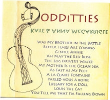 ODDiTTiES Record Cover