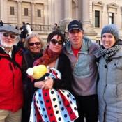 Enn Raudsepp, Dana Hearn, Ciara Raudsepp-Hearn with baby Ida Quinn, Toby Harper-Merrett, Andrea Merrett